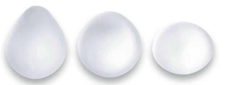 Tipos de tamaños de prótesis de pecho